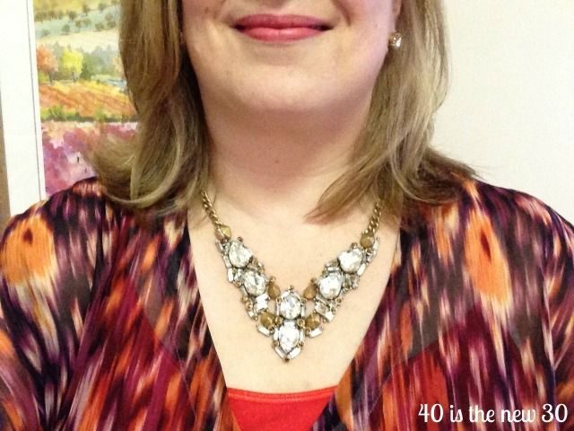 Zora Necklace and CAbi top