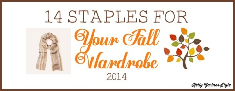 14 Staples for Your Fall Wardrobe series label