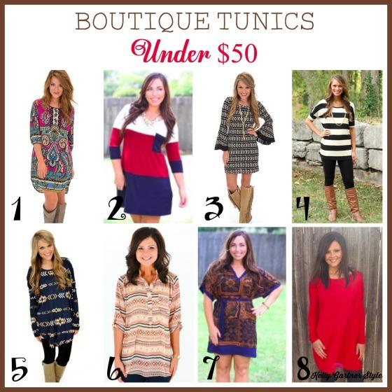Boutique Tunics Under $50