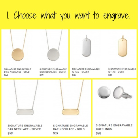 Choose what you want to engrave