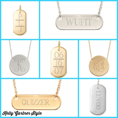 Customer Engravable Necklace Collage