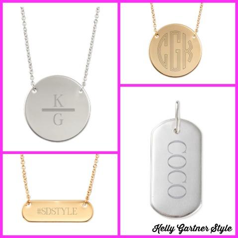 Engravable Necklace Collage