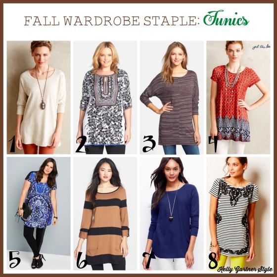 Fall Wardrobe Staple Tunics Retailers
