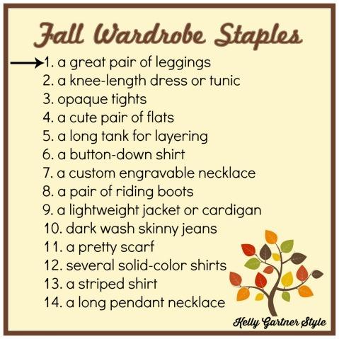 Fall Wardrobe Staples 1 Leggings