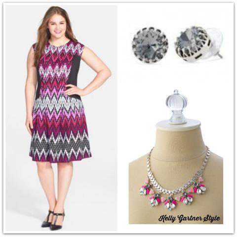 Gabby Skye Dress, Callie Necklace, Nancy Studs