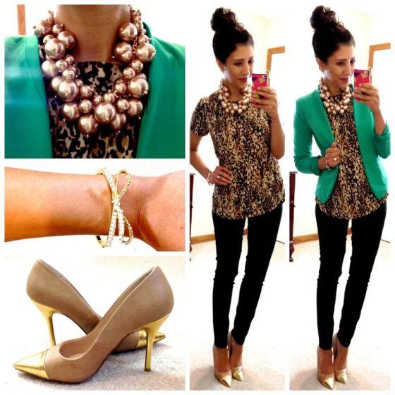 Green, Gold, Leopard