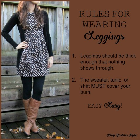 Rules for Wearing Leggings