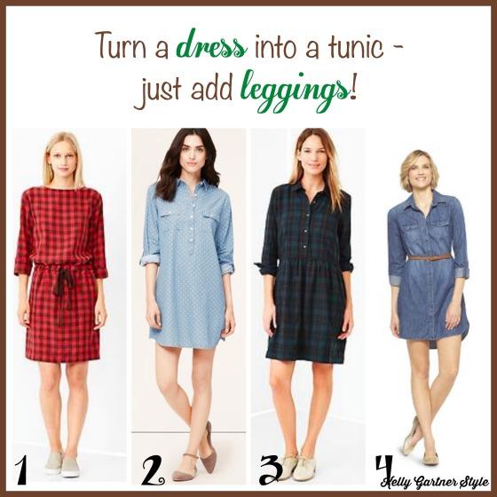 Turn a dress into a tunic